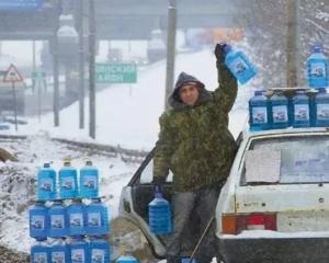 замерзла вода в бачке, на помощь незамерзайка